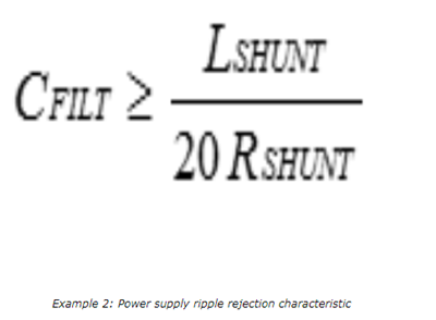 power supply ripple rejection characteristic