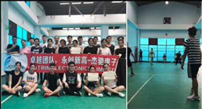 Badminton sports organized by Jotrin's  team in Weekends