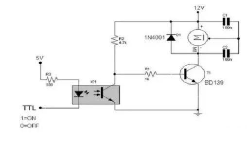 A typical application circuit diagram