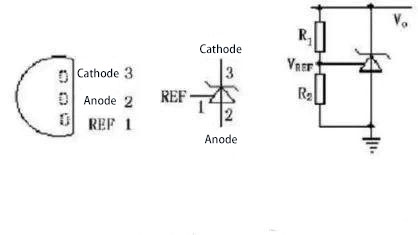 the internal structure of the optocoupler and the pin diagram