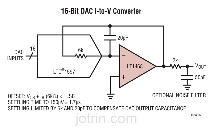 LT1468IDD-2#PBF Block Diagram