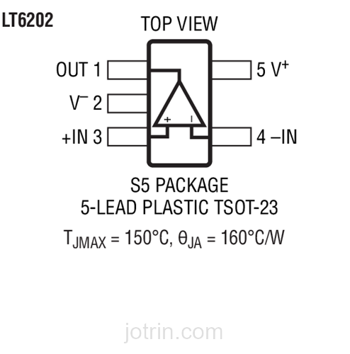 LT6203IS8#PBF Pinout