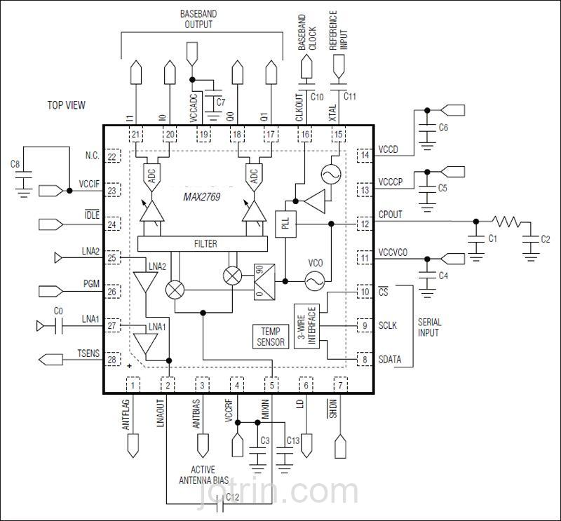 MAX2769E/W-T Block Diagram