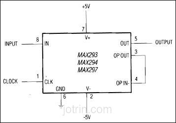 MAX293C/D Block Diagram