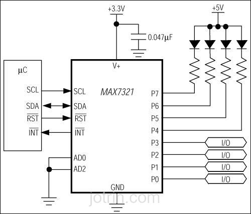 MAX7321AEE Block Diagram