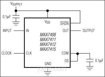 MAX7408EPA Block Diagram