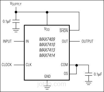 MAX7409EUA Block Diagram