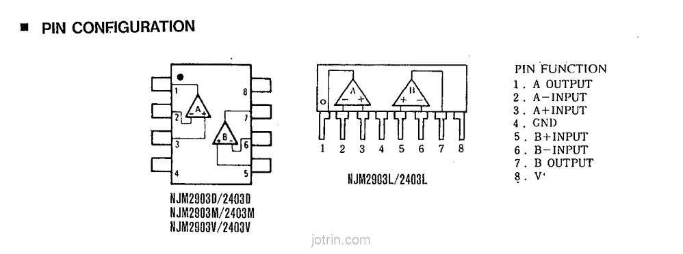 New Japan Radio CASE SIP9 MAKE NJM2903S Integrated Circuit