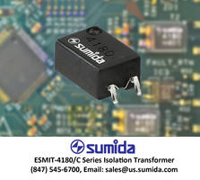 SMD Transformer Provides 3,750 Volt RMS Isolation for Embedded Circuits, Battery Monitors