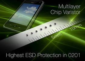 Multilayer Chip Varistors protect mobile devices against ESD.