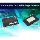 Full-bridge driver IC designed to operate one bipolar stepper or two brush DC motors