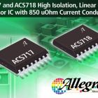 Current sensor ICs include internal resistance of 0.85 mΩ typical