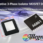 Three-phase isolator MOSFET driver IC is designed to replace relays