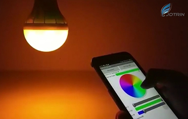 Control color changing lamp with mobile phone
